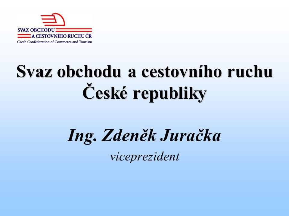 Svaz obchodu a cestovního ruchu České republiky Ing. Zdeněk Juračka viceprezident
