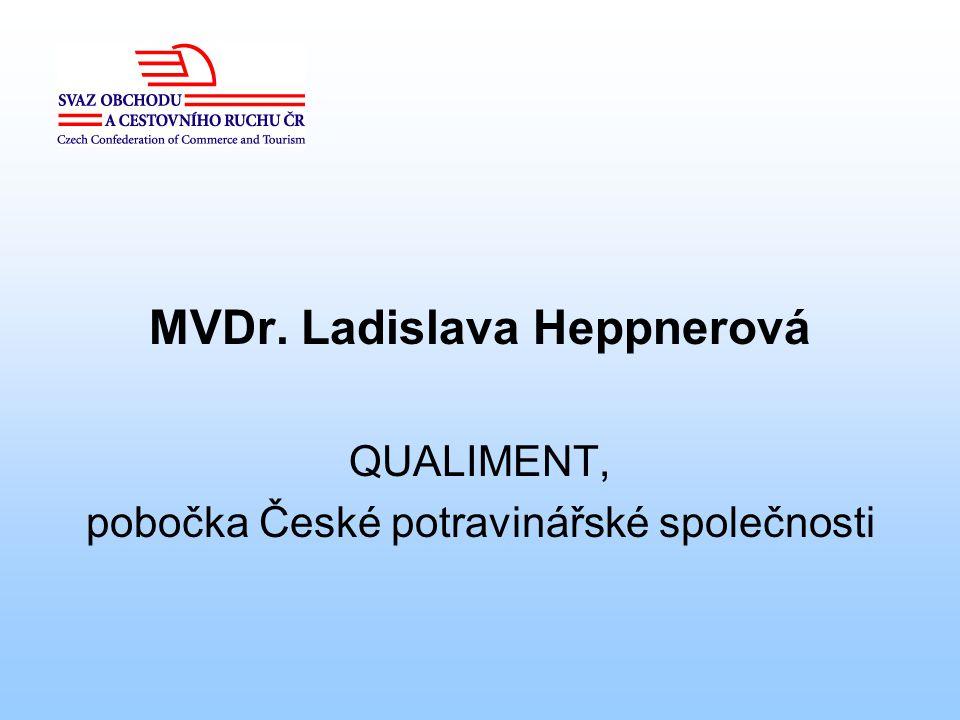 MVDr. Ladislava Heppnerová QUALIMENT, pobočka České potravinářské společnosti