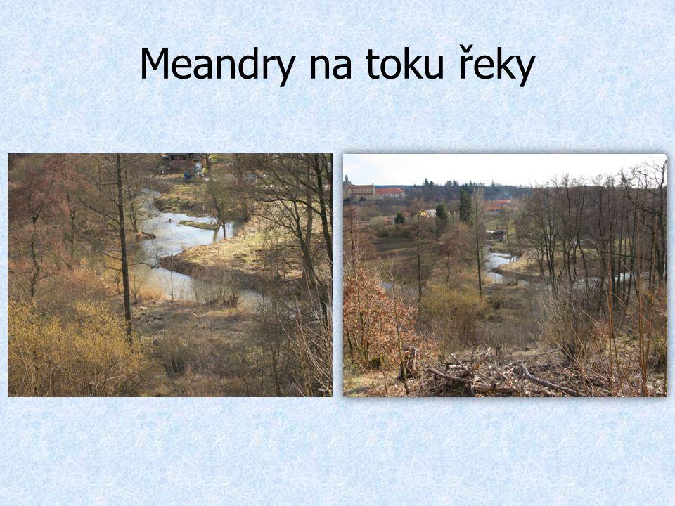 Meandry na toku řeky