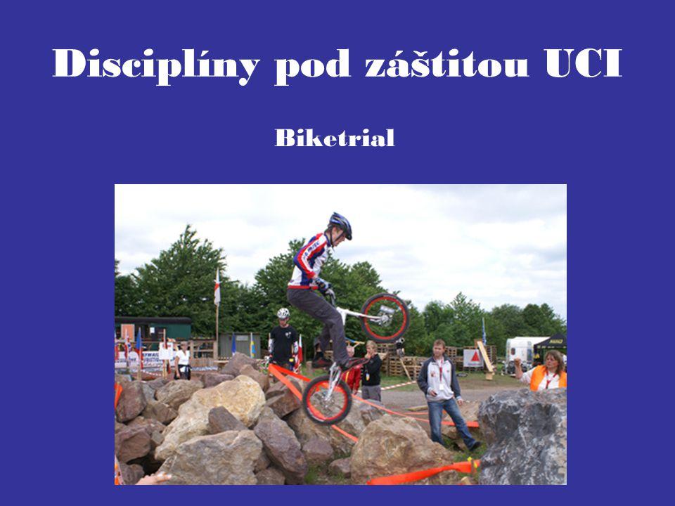 Disciplíny pod záštitou UCI Biketrial