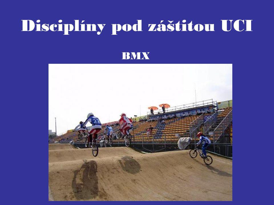 Disciplíny pod záštitou UCI BMX