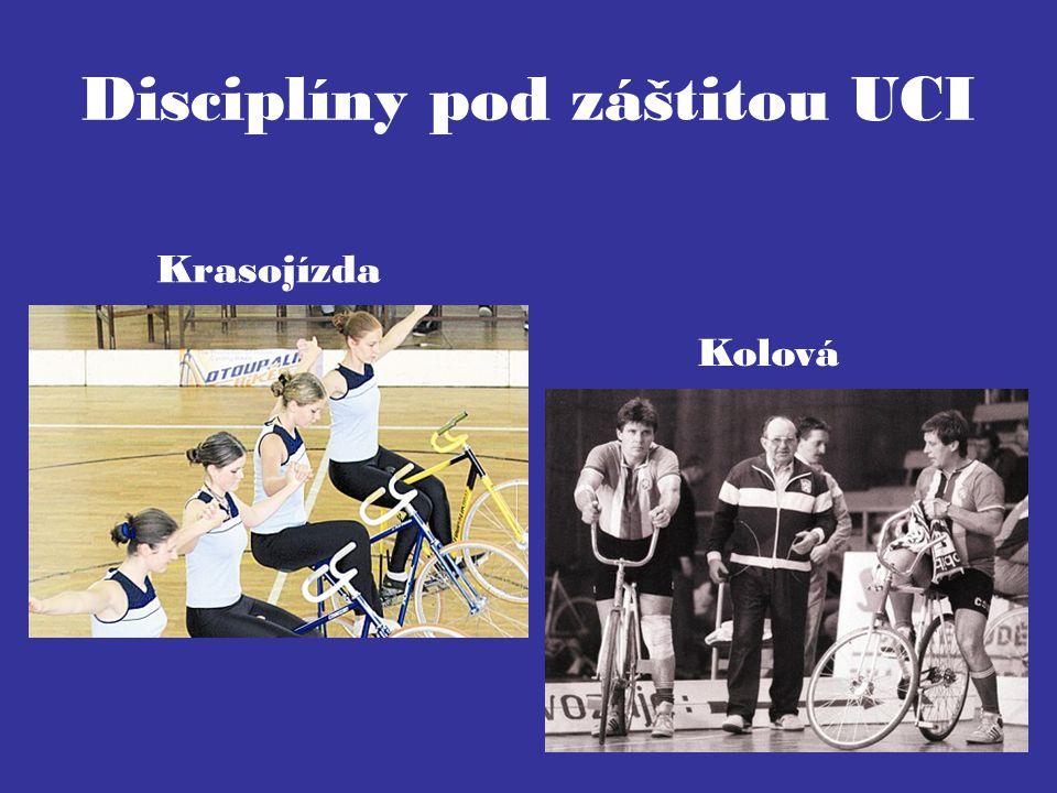 Disciplíny pod záštitou UCI Krasojízda Kolová