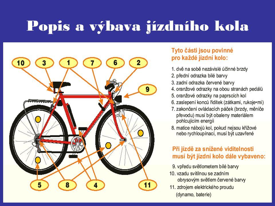 Popis a výbava jízdního kola
