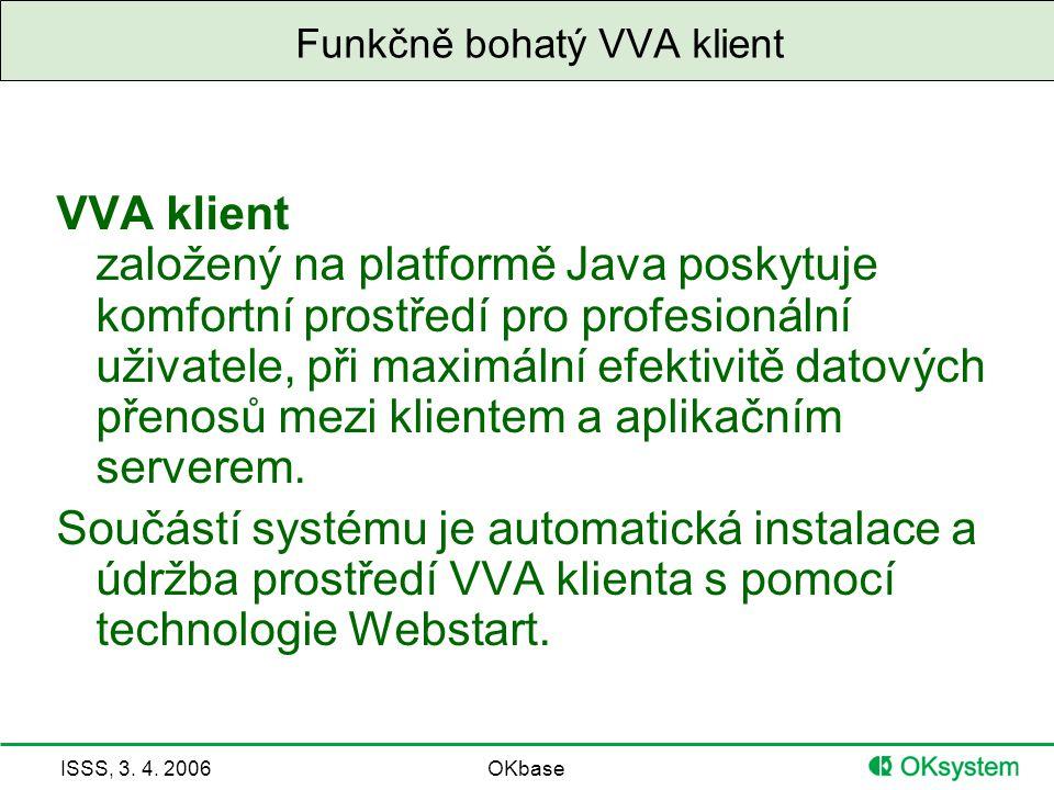 ISSS, 3. 4. 2006OKbase Funkčně bohatý VVA klient