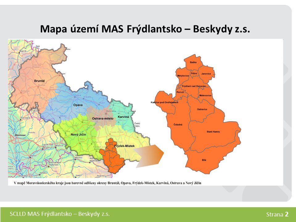 SCLLD MAS Frýdlantsko – Beskydy z.s. Strana 2 Mapa území MAS Frýdlantsko – Beskydy z.s.