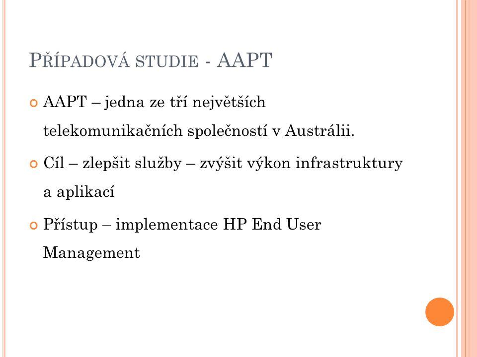 P ŘÍPADOVÁ STUDIE - AAPT AAPT – jedna ze tří největších telekomunikačních společností v Austrálii.