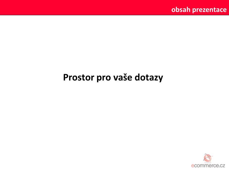 obsah prezentace Prostor pro vaše dotazy