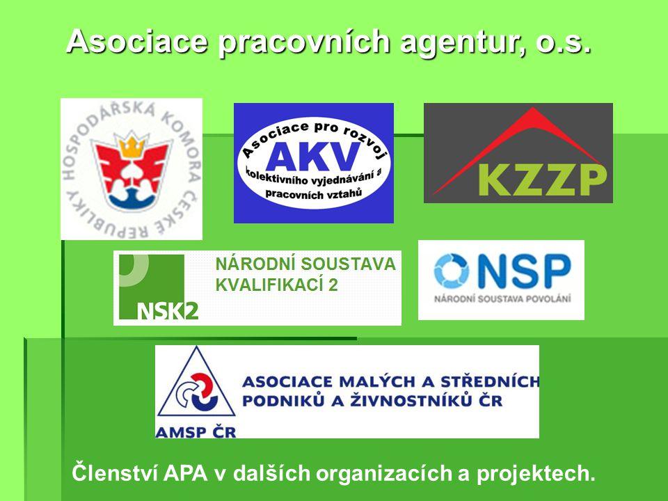 Členové APA jsou geograficky rozprostřeni po celém území ČR. Členové APA jen v roce 2012 obsloužili 40.000 uchazečů o práci. Členové APA jen v roce 20