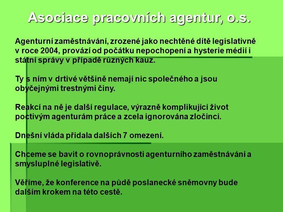 Jsme otevřeni veřejnosti – web www.apa.cz Asociace pracovních agentur, o.s.