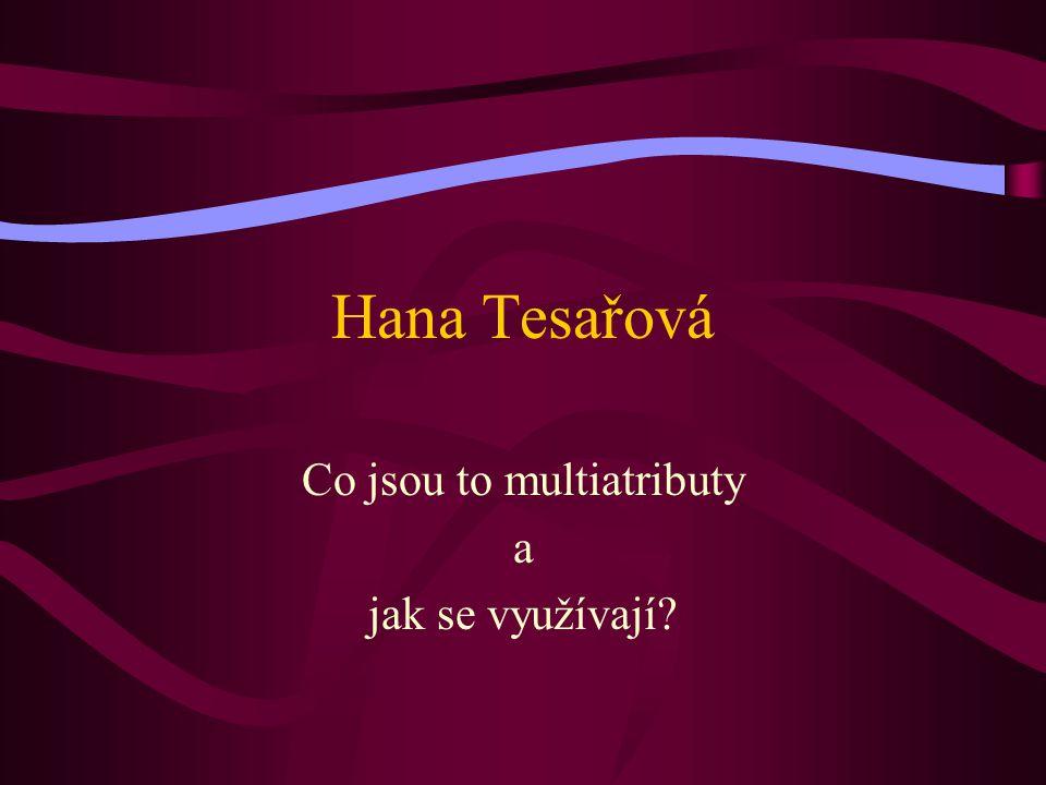 Hana Tesařová Co jsou to multiatributy a jak se využívají