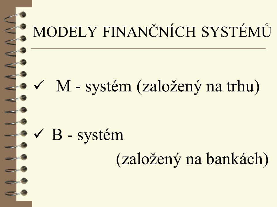 METODY FINANCOVÁNÍ ü přímé  dlužníci získávají zdroje přímo od věřitelů emisí cenných papírů  založeny na existenci finančních trhů a sekundárního o