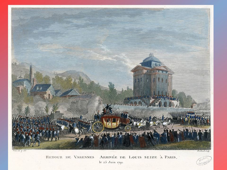 France as a constitutional monarchy June 1791 – the royal family ran from Paris but they were recognized and had to come back September 1791 – a new constitution: a ruler acts as head of state but he is limited by a constitution