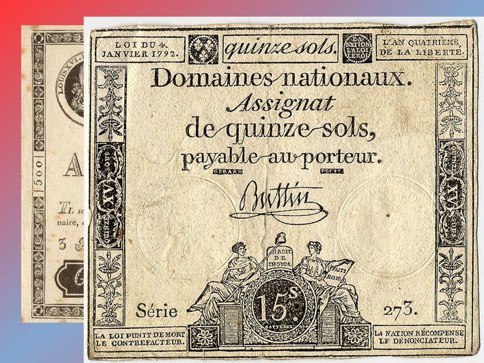 The value of assignats (1789 – 1796)