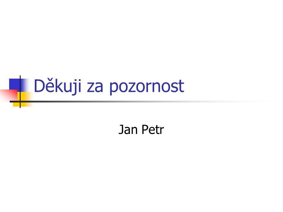 Děkuji za pozornost Jan Petr