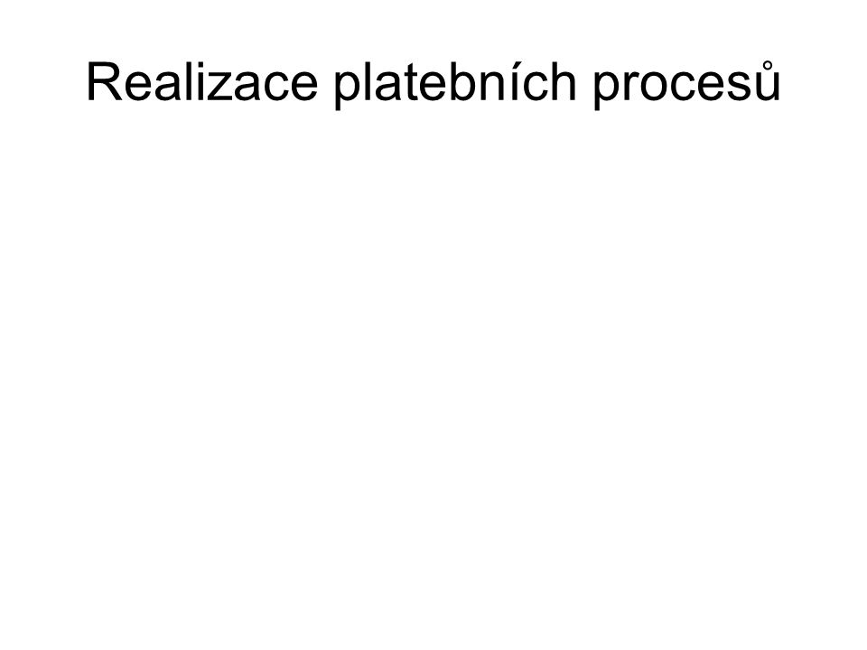 Realizace platebních procesů