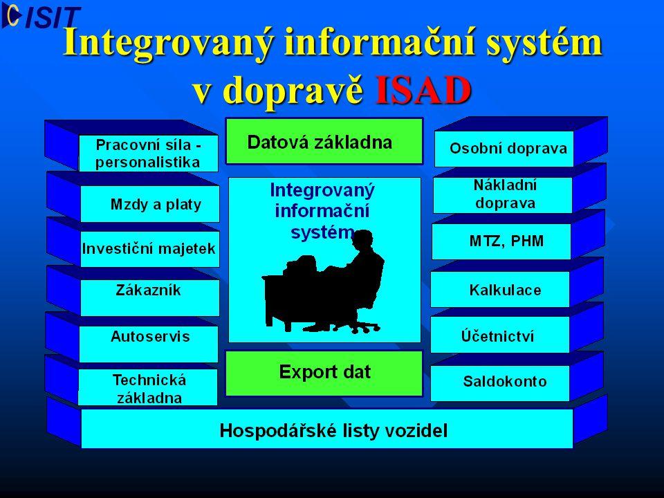 Integrovaný informační systém v dopravě ISAD