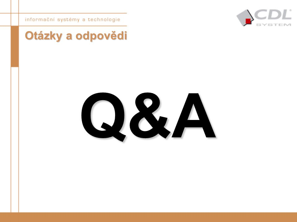 Otázky a odpovědi Q&A