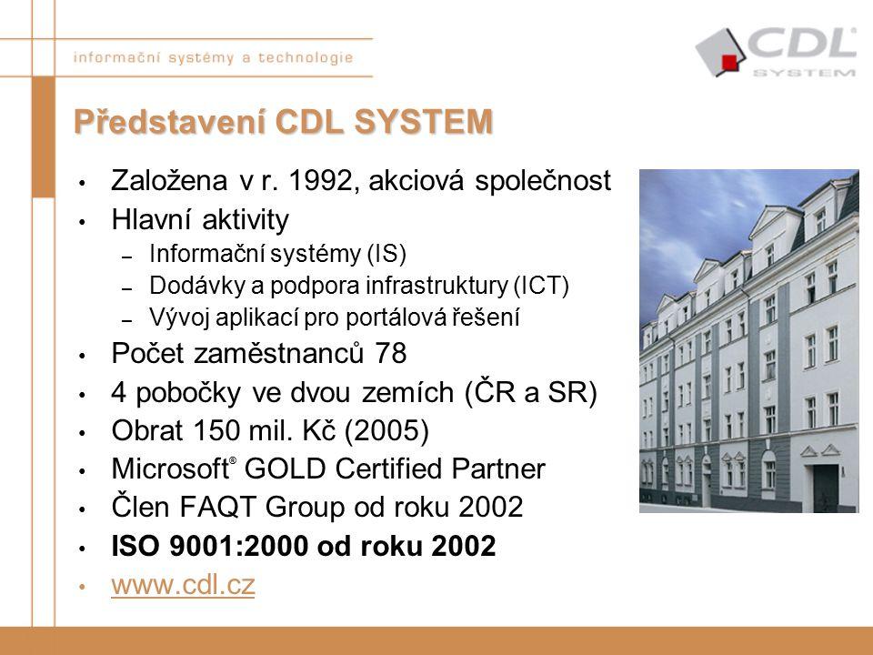 Založena v r. 1992, akciová společnost Hlavní aktivity – Informační systémy (IS) – Dodávky a podpora infrastruktury (ICT) – Vývoj aplikací pro portálo