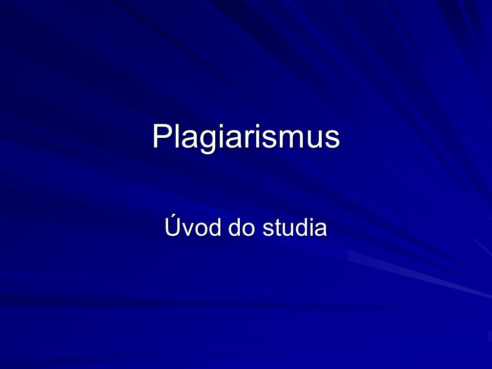 Stag a plagiarismus