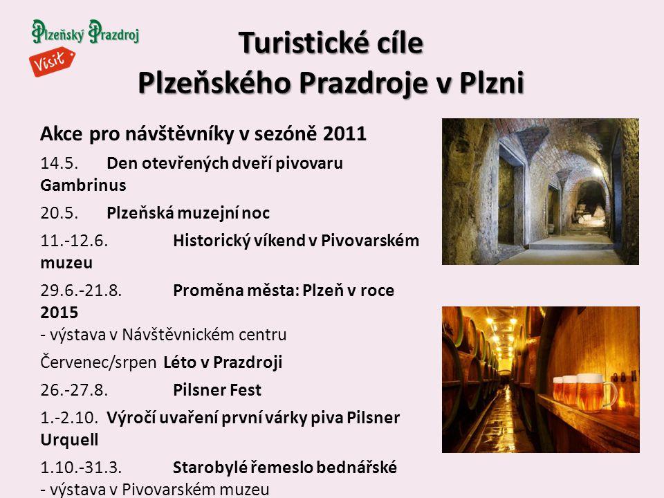 Turistické cíle Plzeňského Prazdroje v Plzni Akce pro návštěvníky v sezóně 2011 14.5.