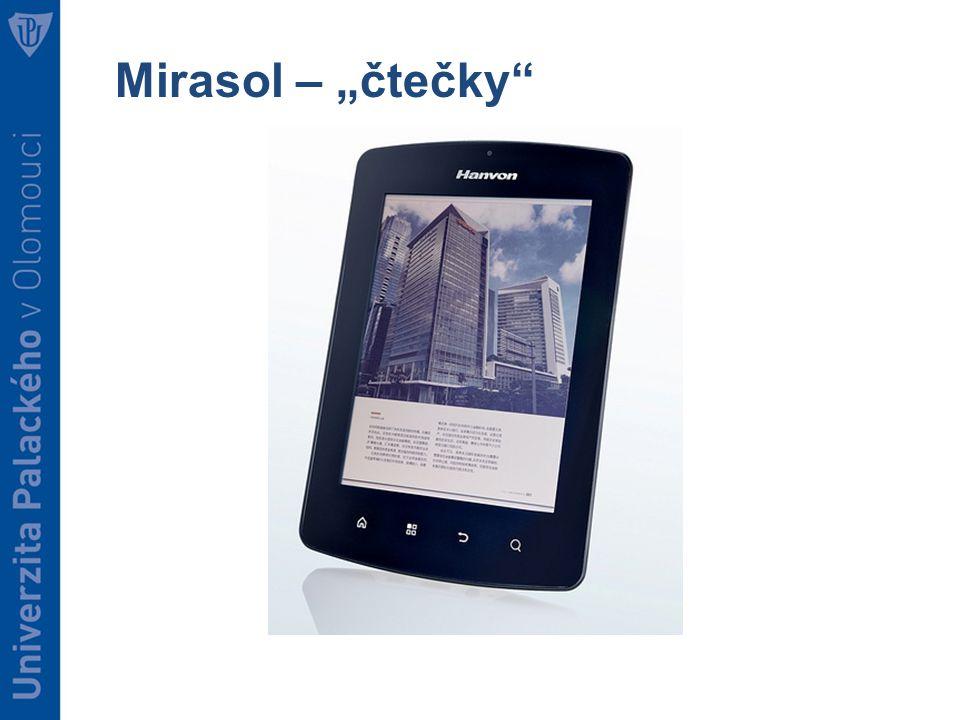 """Mirasol – """"čtečky"""
