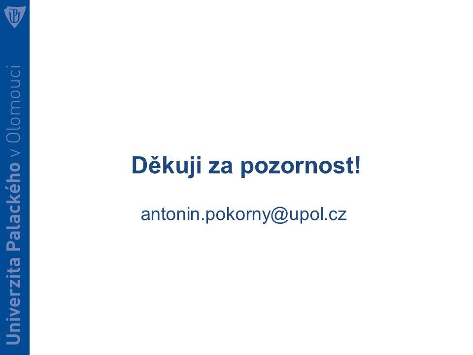 Děkuji za pozornost! antonin.pokorny@upol.cz