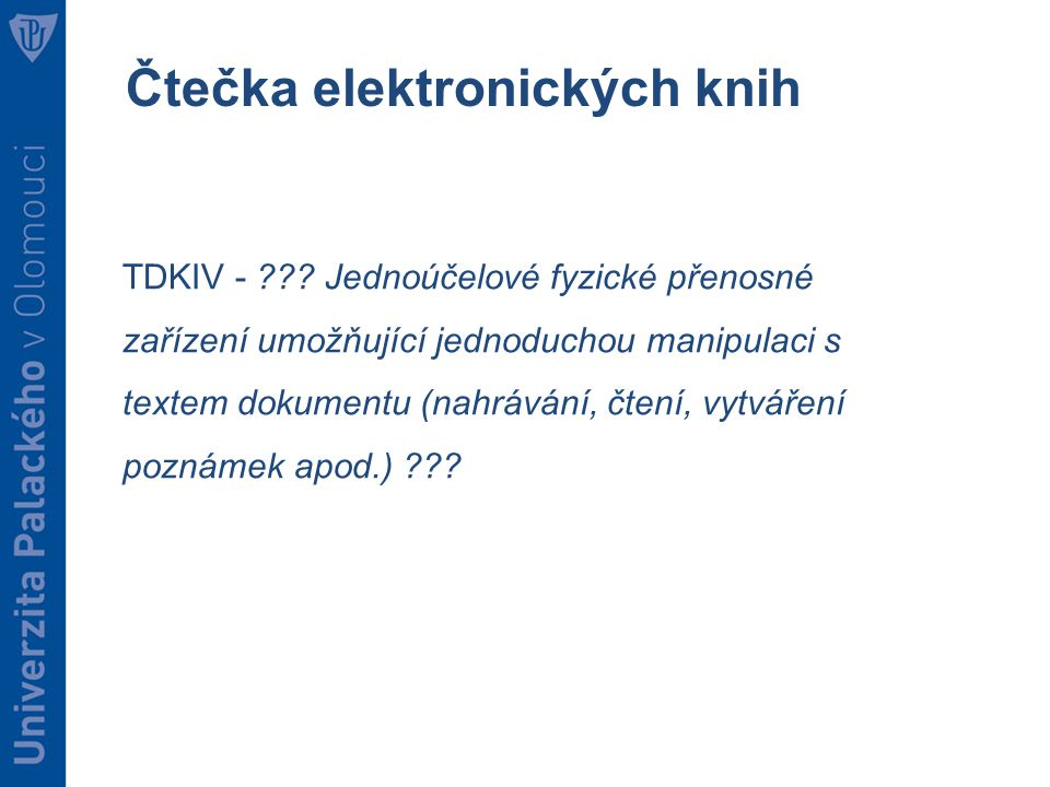 Čtečka elektronických knih TDKIV - .