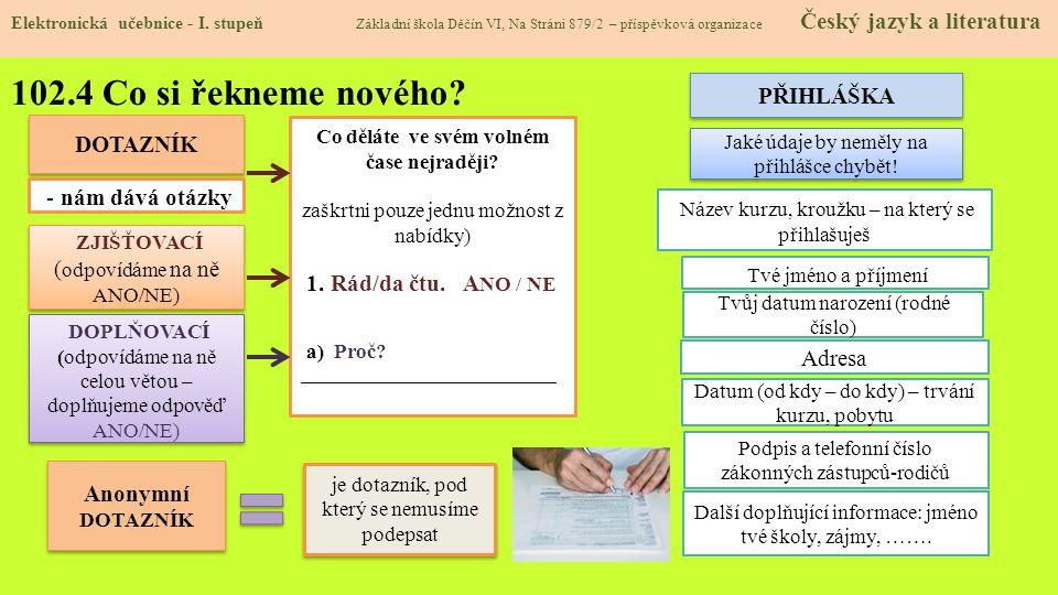 102.5 Procvičení a příklady Elektronická učebnice - I.