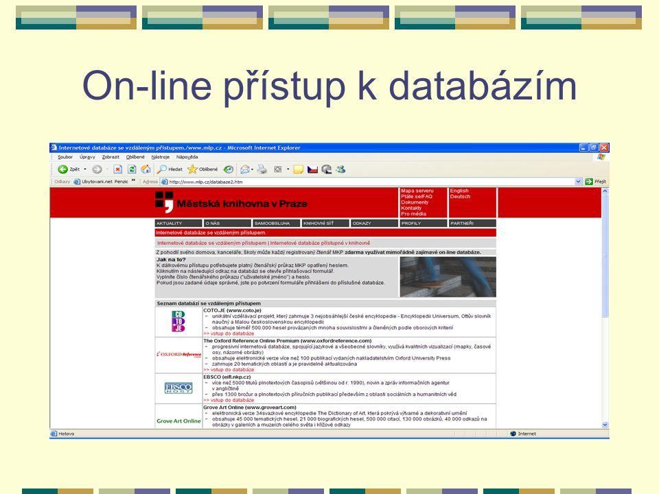 On-line přístup k databázím