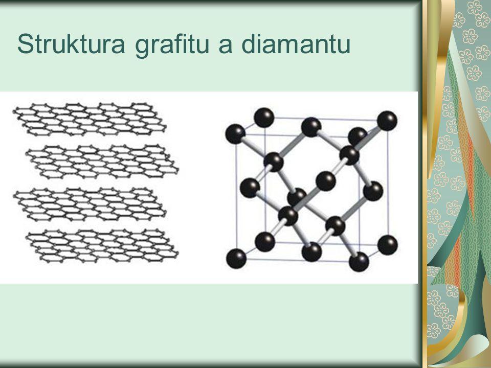 Struktura grafitu a diamantu