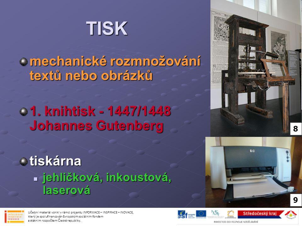 Použité obrázky: obr.č.13- http://commons.wikimedia.org/wiki/File:Cesky_rozhlas_Vinohradska_vchod.jpg http://commons.wikimedia.org/wiki/File:Cesky_rozhlas_Vinohradska_vchod.jpg Creative Commons Attribution-Share Alike 3.0 Unported license obr.č.15- http://commons.wikimedia.org/wiki/File:Early_portable_tv.jpg http://commons.wikimedia.org/wiki/File:Early_portable_tv.jpg Volně šiřitelné obr.č.16- http://commons.wikimedia.org/wiki/File:Praha,_N%C3%A1rodn%C3%AD_t%C5%99%C3%AD da,_Nova.jpg http://commons.wikimedia.org/wiki/File:Praha,_N%C3%A1rodn%C3%AD_t%C5%99%C3%AD da,_Nova.jpg http://commons.wikimedia.org/wiki/File:Praha,_N%C3%A1rodn%C3%AD_t%C5%99%C3%AD da,_Nova.jpg Creative Commons Attribution-Share Alike 3.0 Unported license obr.č.18- http://commons.wikimedia.org/wiki/File:%D0%A4%D0%BE%D1%82%D0%BE%D1%82%D0% B5%D1%85%D0%BD%D0%B8%D0%BA%D0%B0_02.JPG http://commons.wikimedia.org/wiki/File:%D0%A4%D0%BE%D1%82%D0%BE%D1%82%D0% B5%D1%85%D0%BD%D0%B8%D0%BA%D0%B0_02.JPG http://commons.wikimedia.org/wiki/File:%D0%A4%D0%BE%D1%82%D0%BE%D1%82%D0% B5%D1%85%D0%BD%D0%B8%D0%BA%D0%B0_02.JPG Creative Commons Attribution-Share Alike 3.0 Unported license Učební materiál vznikl v rámci projektu INFORMACE – INSPIRACE – INOVACE, který je spolufinancován Evropským sociálním fondem a státním rozpočtem České republiky.