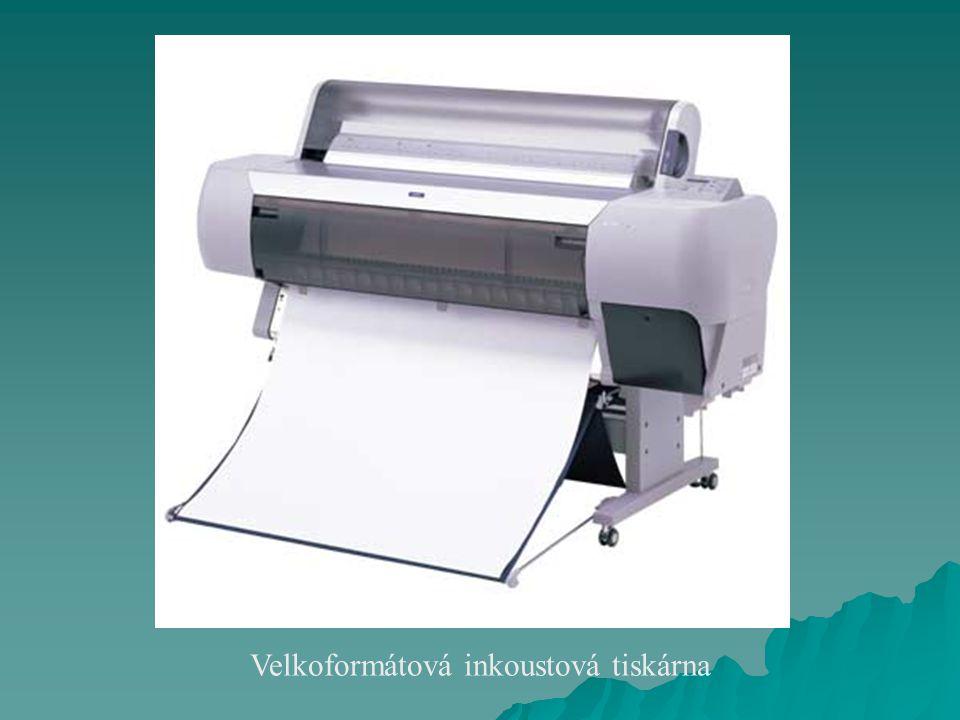Piezoelektrický inkoustový tisk  Kromě mnoho druhů inkoustů vhodných například pro exteriérové tisky je praktickým důsledkem možnost použití pevných vosků.