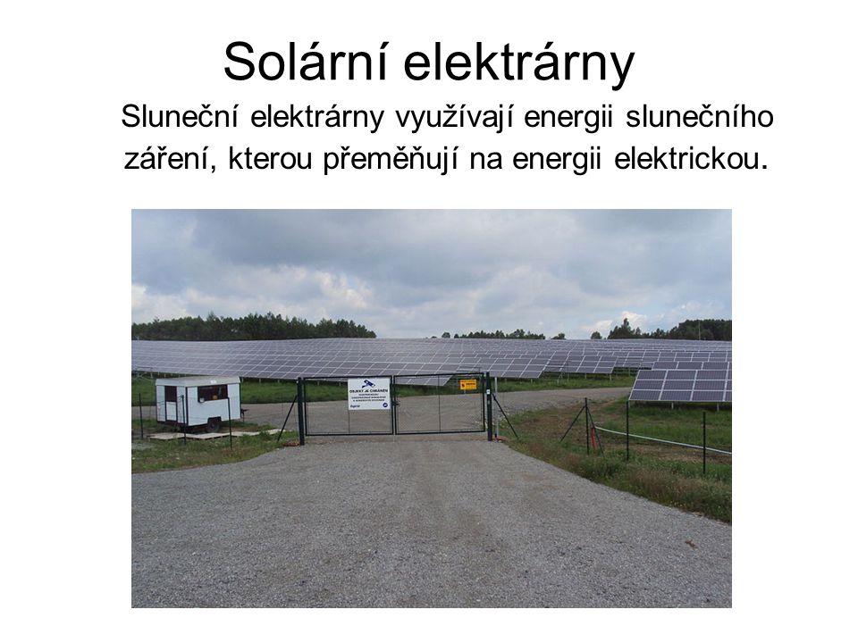 Rozdělení podle využití přeměny sluneční energie Přímé Přeměna využívá fotovoltaického jevu.