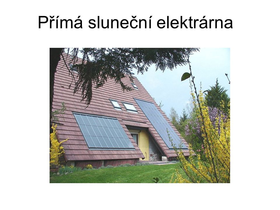 Nepřímá sluneční elektrárna