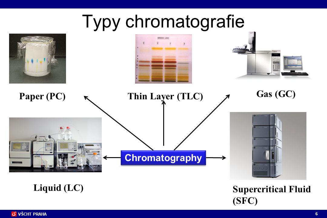 77 VŠCHT PRAHA Jednotlivé části kapalinového chromatografu a jejich funkce Důležitý požadavek: minimální mrtvý objem aparatury Spojovací kapiláry z nerezavějící oceli nebo PEEKu -spojují čerpadlo s předkolonou, předkolonu s kolonou, kolonu s detektorem Moderní analytická HPLC - kratší kolony (3 - 30 cm) - menší vnitřní průměr (0,5 – 4,6 mm) - vysoká účinnosti (> 40 000 teoretických pater/m) - použití náplní s malými částicemi (střední průměr 1 - 10 µm) s úzkou distribucí velikostí - práce při vyšších tlacích (40 MPa a více – 400 bar)  možnost dosažení přijatelného průtoku a doby analýzy - eluát z kolony prochází detektorem s průtočnou celou malého vnitřního objemu (obvykle 0,5 - 15 µl) - signál (odezva) je úměrný koncentraci či hmotnosti separovaných látek v průtočné cele