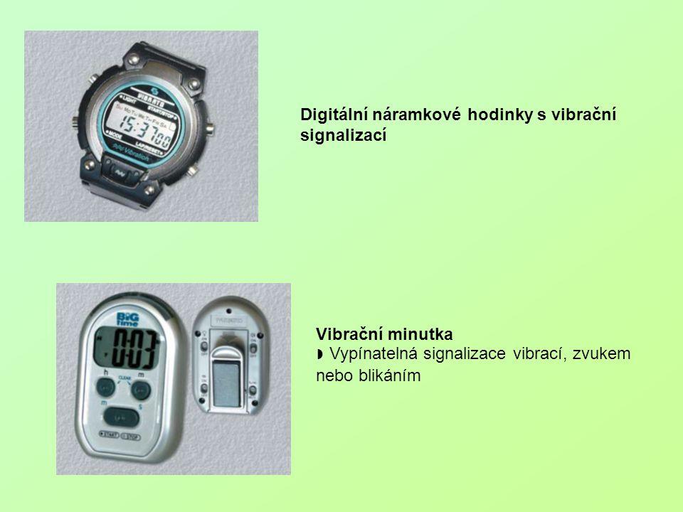 Digitální náramkové hodinky s vibrační signalizací Vibrační minutka ◗ Vypínatelná signalizace vibrací, zvukem nebo blikáním