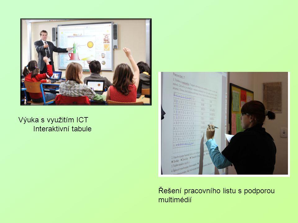 Výuka s využitím ICT Interaktivní tabule Řešení pracovního listu s podporou multimédií