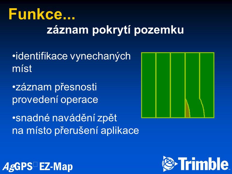 AgGPS  EZ-Map Funkce...