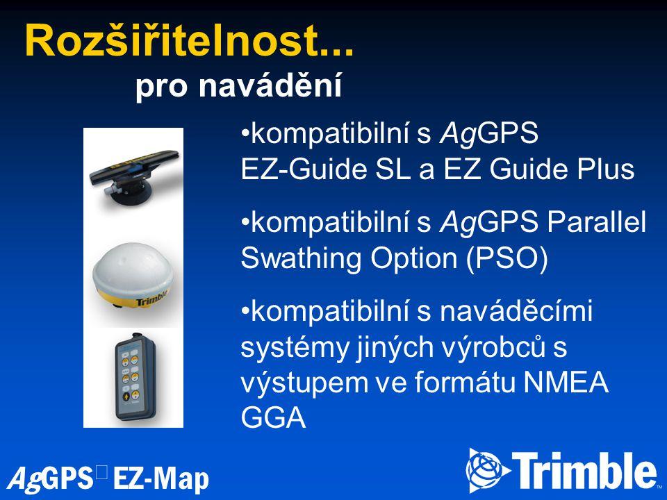 AgGPS  EZ-Map Rozšiřitelnost...