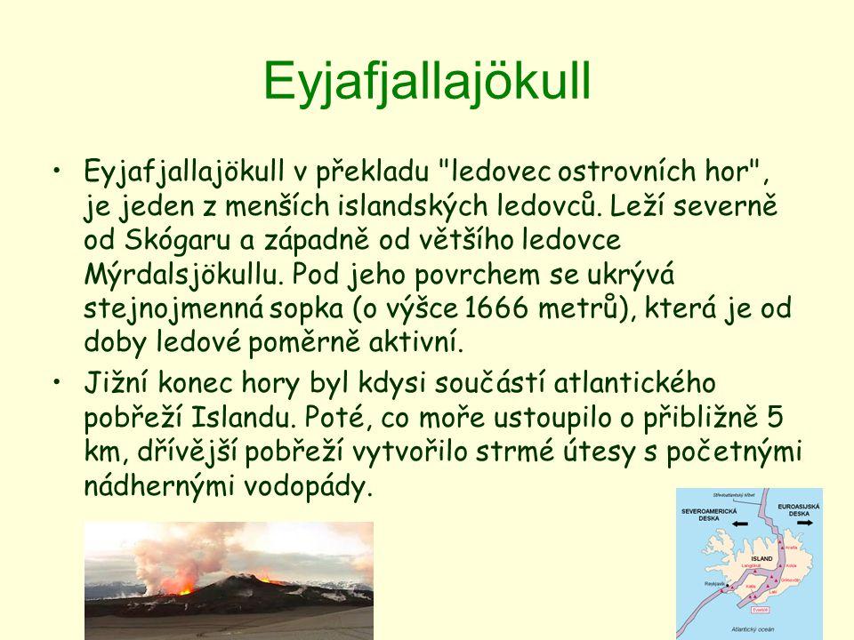 Eyjafjallajökull Eyjafjallajökull v překladu