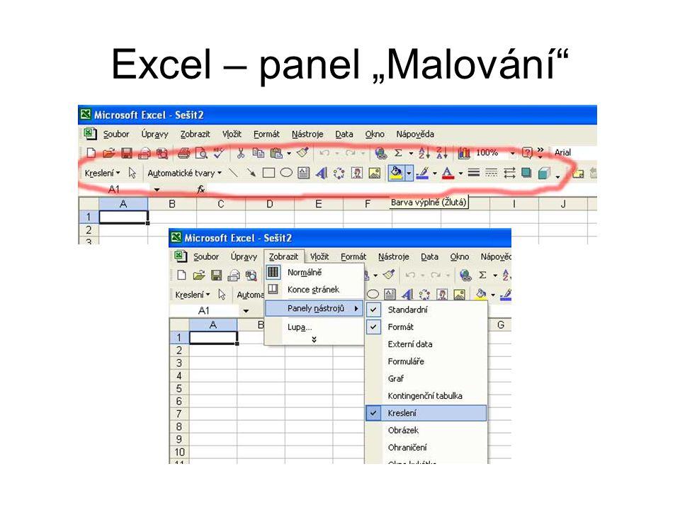 """Excel – panel """"Malování"""