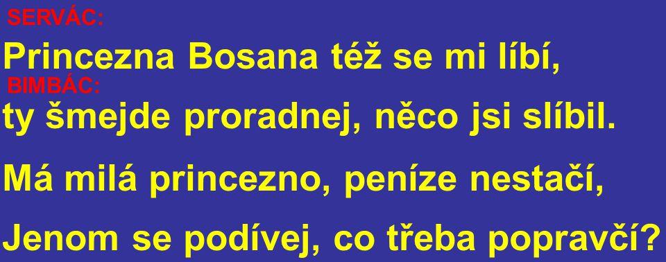 BIMBÁC: Princezna Bosana též se mi líbí, ty šmejde proradnej, něco jsi slíbil.