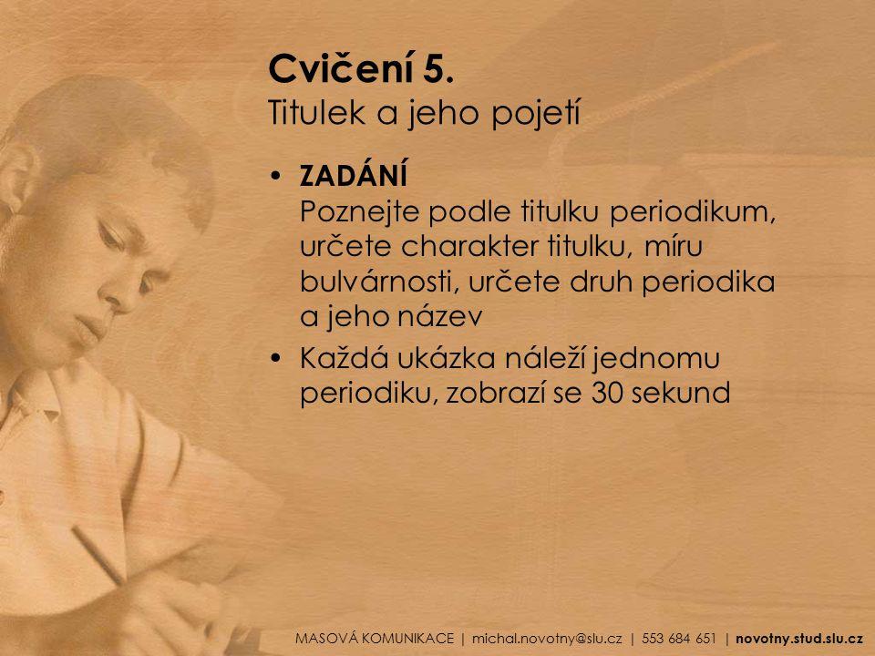 Cvičení 5.