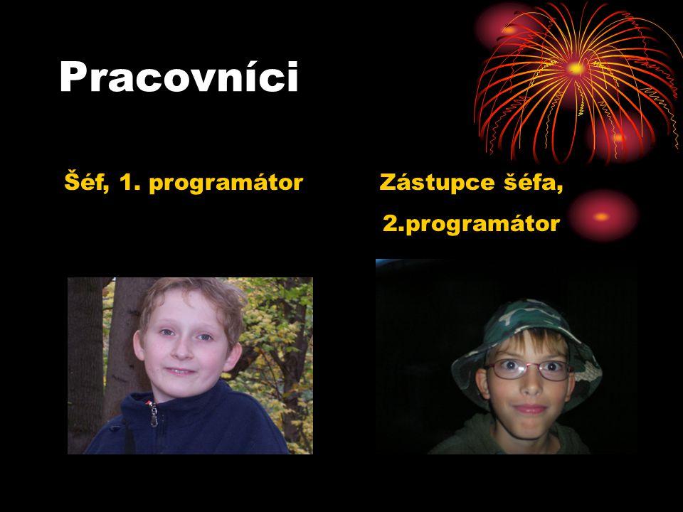 Pracovníci Šéf, 1. programátor Zástupce šéfa, 2.programátor
