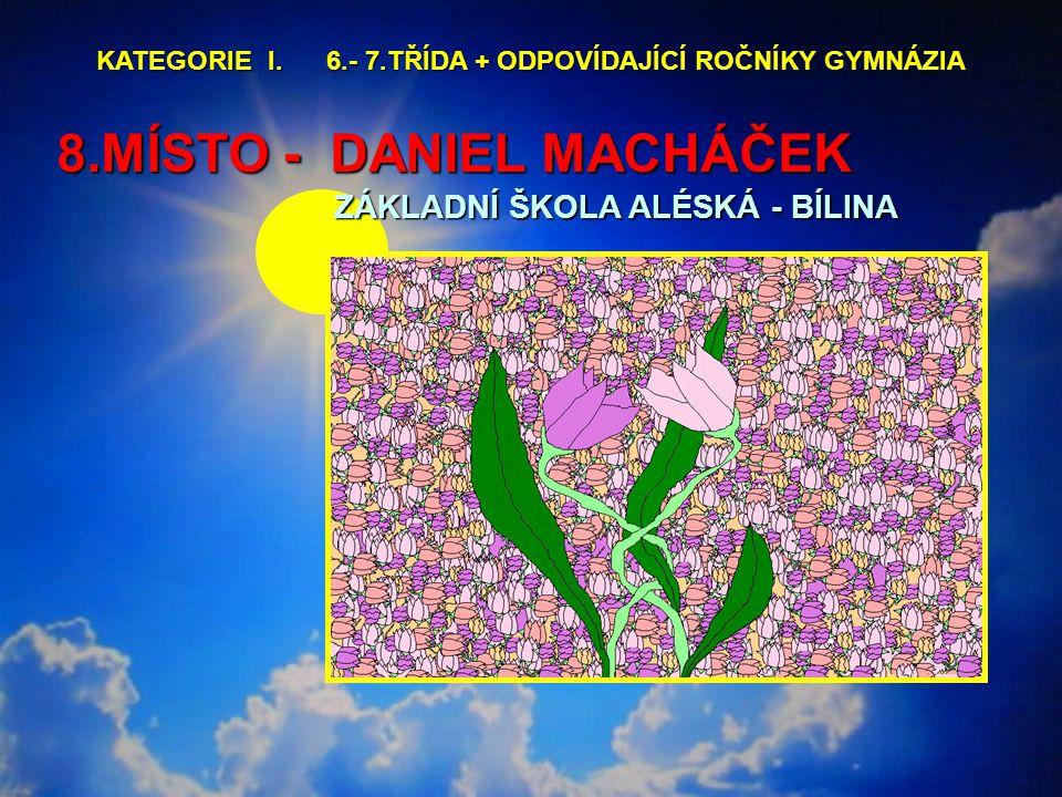 8.MÍSTO - DANIEL MACHÁČEK ZÁKLADNÍ ŠKOLA ALÉSKÁ - BÍLINA KATEGORIE I.