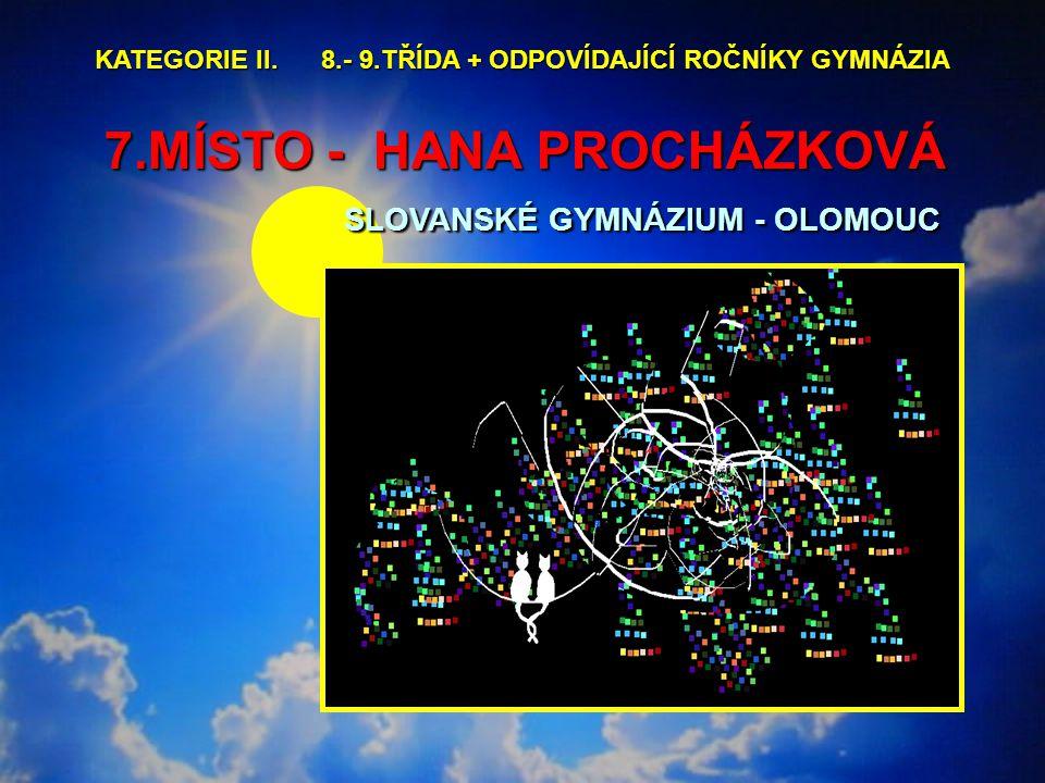 7.MÍSTO - HANA PROCHÁZKOVÁ SLOVANSKÉ GYMNÁZIUM - OLOMOUC 7.MÍSTO - HANA PROCHÁZKOVÁ SLOVANSKÉ GYMNÁZIUM - OLOMOUC KATEGORIE II.