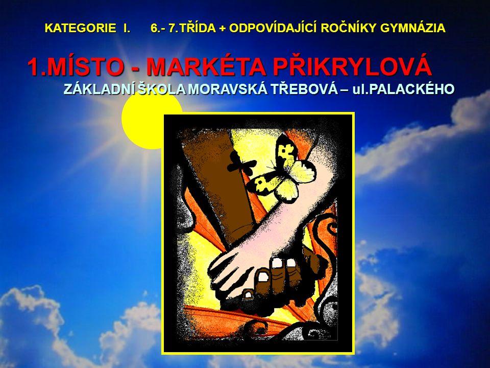 1.MÍSTO - MARKÉTA PŘIKRYLOVÁ ZÁKLADNÍ ŠKOLA MORAVSKÁ TŘEBOVÁ – ul.PALACKÉHO KATEGORIE I.