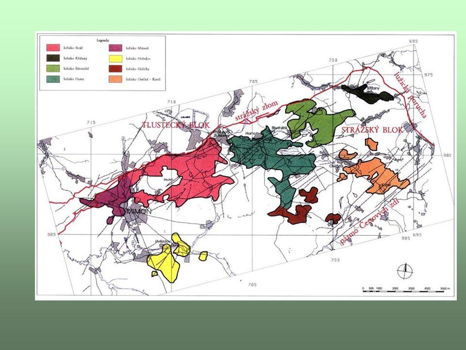Stráž pod Ralskem - čísla Bilance: Navrtáno kolem 8 000 technologických vrtů Plocha vyluhovacích polí 628 ha Celková produkce uranu 15 000 tun Zpracováno výluhů cca 400 mil.