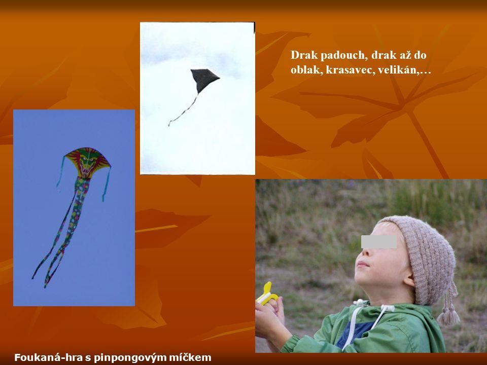 Drak padouch, drak až do oblak, krasavec, velikán,… Foukaná-hra s pinpongovým míčkem