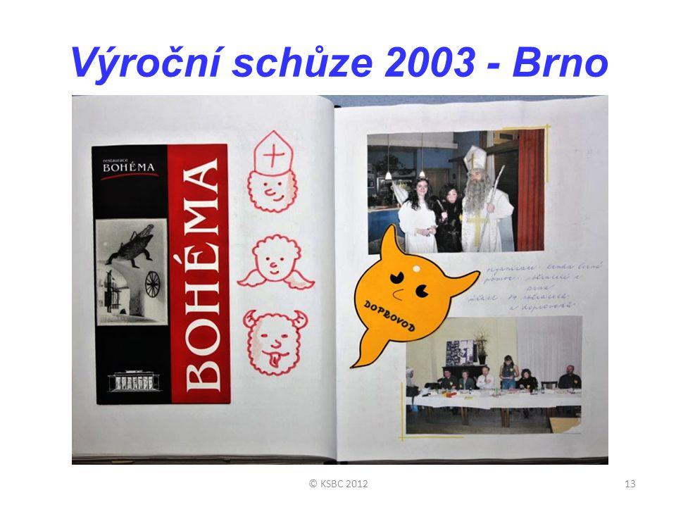 Výroční schůze 2003 - Brno © KSBC 201213
